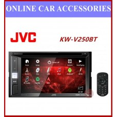 JVC 2-DIN AV Receiver KW-V250BT DVD/CD/USB Receiver with 6.8-inch Clear Resistive Touch Control Monitor (6.2 WVGA) and Built-In Bluetooth