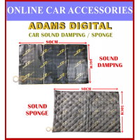 (1PC) Adams Digital Sound Damping/Sponge Sound Proofing Insulation for Car Doors Panel or Car Engine Cover