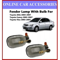 ( 1 Set ) Fender Lamp Signal Light With Bulb For Toyota Altis 03 - 07 Toyota Vios 03 - 07 Toyota Camry 2003 - 2007