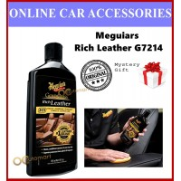 ( Free Gift ) Meguiars G7214 Gold Class Rich Lotion 414ml Leather Cleaner Conditioner Protectant Meguiar's